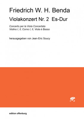 Benda, Friedrich W. H. (1745–1814): Viola Concerto Nr. 2 Es-Dur<br />– Partitur