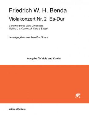 Benda, Friedrich W. H. (1745–1814): Viola Concerto Nr. 2 Es-Dur<br />– Klavierauszug