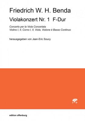 Benda, Friedrich W. H. (1745–1814): Viola Concerto Nr. 1 F-Dur