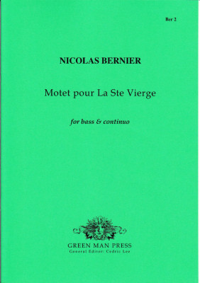 Bernier, Nicolas  (1665-1734): Motet pour la Ste. Vierge
