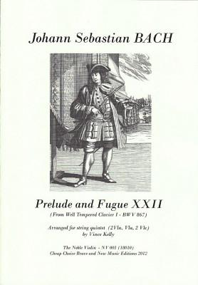 Bach, Johann Sebstian (1685–1750): Prelude und Fuge XXII<br>– Partitur und Stimmen