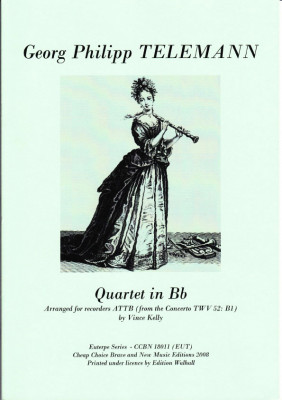 Telemann, Georg Ph. (1681-1767): Quartett B-Dur TWV 52: B1