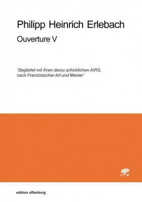 Erlebach, Philipp Heinrich (1657–1714): Ouverture V, in F<br>– Stimmenset