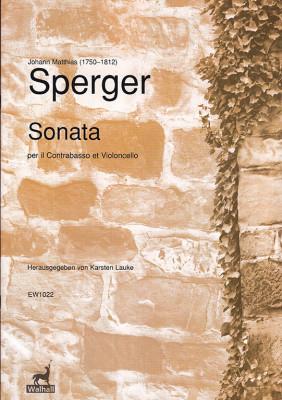 Sperger, Johann Matthias (1750–1812): Sonata