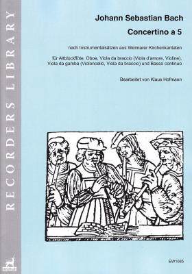 Bach, Johann Sebastian (1685– 1750): Concertino a 5 G Minor