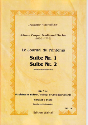Fischer, Johann Caspar Ferdinand (1656-1746): Journal du Printems - Suiten Nr. 1 - 8 op. 1 - Partitur