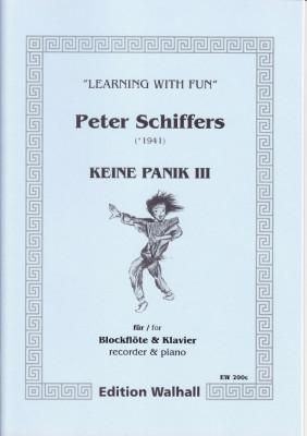 Schiffers, Peter (* 1941): Keine Panik III - Blockflöte & Klavier