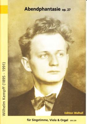 Kempff, Wilhelm (1895-1991): Abendphantasie op. 27