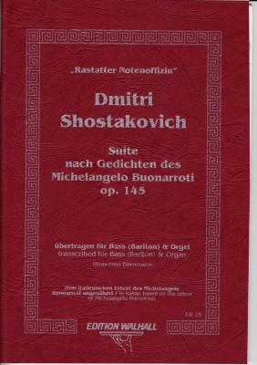 Shostakovich, Dmitri (1906-1975): Suite nach Gedichten des Michelangelo Buonaroti op. 145