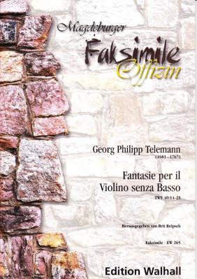 Telemann, Georg Philipp (1681- 1767): Fantasie per il Violino senza Basso TWV 40:14-25
