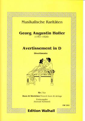 Augustin Holler (1744-1814): Avertissement in D - Partitur