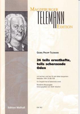 Telemann, Georg Philipp (1681-1767): 24 teils ernsthafte, teils scherzende Oden