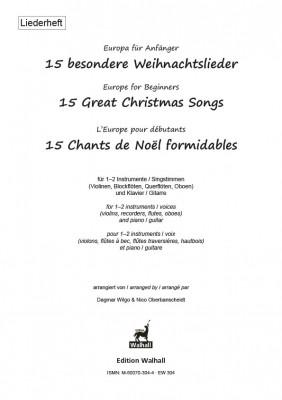 Europa für Anfänger: 15 besondere Weihnachtslieder<br />– Liederheft