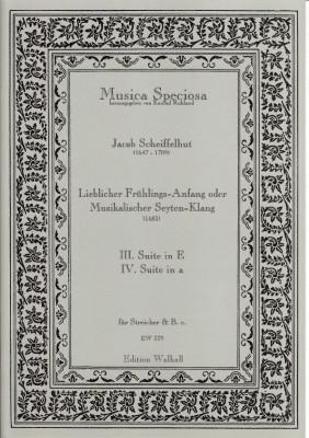 Scheiffelhut, Jacob (1647-1709): Lieblicher Frühlings-Anfang oder Musikalischer Seyten-Klang <br>Suits I & II (in D minor & B minor)