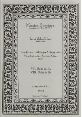 Scheiffelhut, Jacob (1647-1709): Lieblicher Frühlings-Anfang oder Musikalischer Seyten-Klang <br>- Suiten Nr. VII & VIII (in Es & fis)