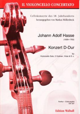 Hasse, Johann Adolph (1699-1783): Konzert D-Dur<br />- Partitur