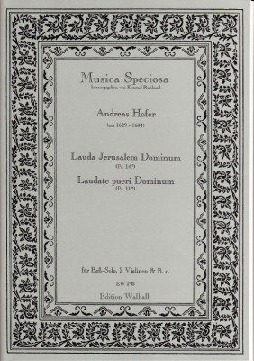 Hofer, Andreas (1629-1684): Lauda Jerusalem Dominum (Ps. 147) & Laudate pueri Dominum (Ps. 112)
