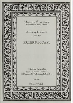 Crotti, Arcangelo (Venedig 1608): Pater Peccavi