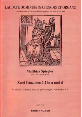 Spiegler, Matthias (~1595-1631): Canzonen à 2 & à 3<br>- Band I: Cornetto, Fagott'