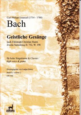 Bach, Carl Philipp Emanuel (1714-1788): Geistliche Gesänge nach Sturm - Band II