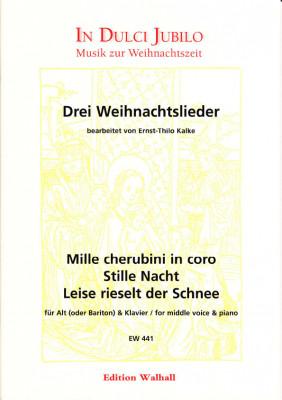 Kalke, Ernst-Thilo (*1924): Drei Weihnachtslieder<br>- mittlere Stimme [g - es'']