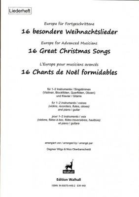 Europa für Fortgeschrittene: 16 besondere Weihnachtslieder<br>–  Liederheft (Klassenmusizieren)