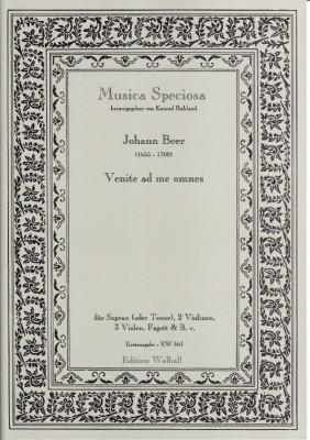 Beer, Johannes (1655-1700): Venite ad me omnes