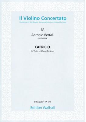 Bertali, Antonio (1605-1669): Capricio