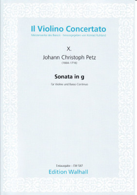 Petz, Johann Christoph (1664-1716): Sonata in g