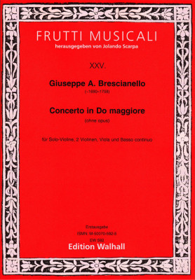 Brescianello, Giuseppe Antonio (~1690–1758): Concerto in Do maggiore<br>- Partitur & Stimmen