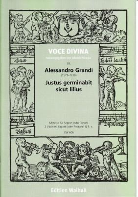 Grandi, Alessandro (1577–1630): Justus germinabit sicut lilius