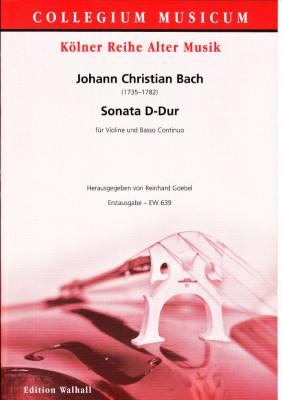 Bach, Johann Christian (1735-1782): Sonata D-Dur