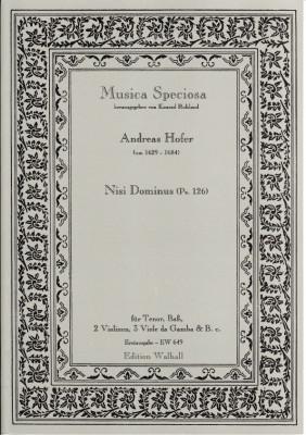 Hofer, Andreas (~1629-1684): Nisi Dominus (Ps. 126)