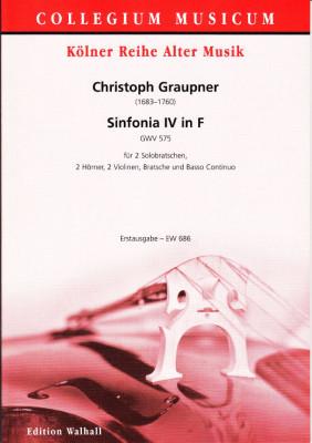 Graupner, Christoph (1683-1760): Sinfonia IV in F