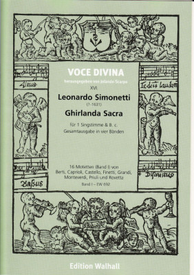 Simonetti, Leonardo (?-1631): Ghirlanda Sacra - Band I