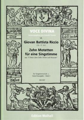 Riccio, Giovan Battista (16.-17.Jh): Il Terzo Libro Delle Divine Lodi Musicali - Band I