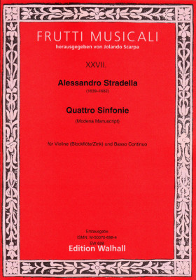 Stradella, Alessandro (1639–1682): Sinfonia a Violino solo e Basso – Band 1 (Modena, 4 Sinfonien)
