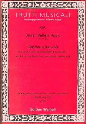 Riccio, Giovan Battista (16.-17. Jh.): Canzonen und Sonaten<br>- Band II