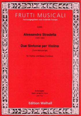 Stradella, Alessandro (1639–1682): Sinfonia a Violino solo e Basso – Band 3 (Turin, 4 Sinfonien)