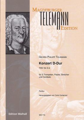 Telemann, Georg Philipp (1681–1767): Konzert D-Dur TWV 54:D4<br>– Partitur
