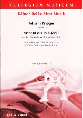 Krieger, Johann (1652-1735):  Sonata à 5 in a-Moll