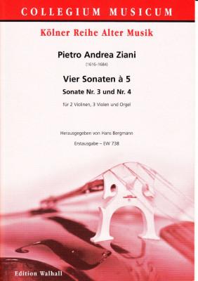 Ziani, Pietro Andrea (~1620-1684): Vier Sonaten à 5 aus op. 7<br>- Sonaten Nr. 3 & 4