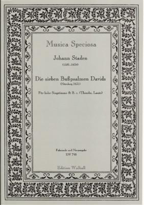 Staden, Johann (1581-1634): Die sieben Bußpsalmen Davids