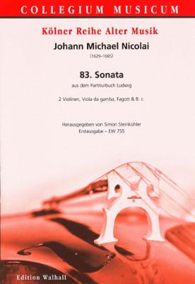 Nicolai, Johann Michael (1629-1685): 83. Sonata à 4 (Partiturbuch Ludwig)
