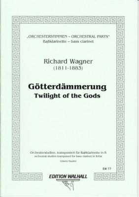 Wagner, Richard (1813-1883): Orchesterstimmen für Baßklarinette in B<br>- Götterdämmerung