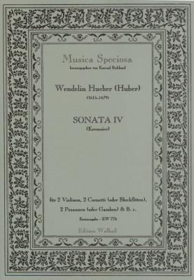 Hueber (Huber), Wendelin, (Kremsier 17. Jh.): Sonaten I-VII<br>- Sonata IV