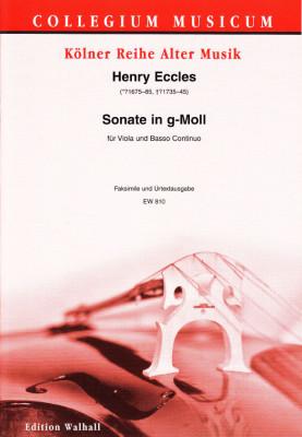Eccles, Henry (~1675-1735/45): Sonata Undecimo g-Moll