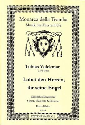 Volckmar, Tobias (1678–1756): Lobet den Herren, ihr seine Engel<br>– Partitur und Stimmen