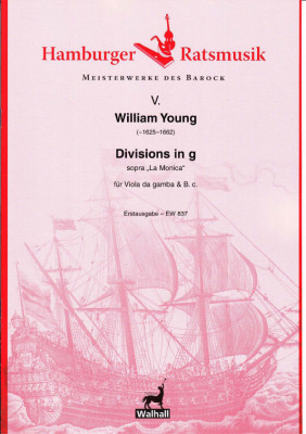 """Young, William (~1625–1662): Divisions in g """"sopra la Monica"""""""