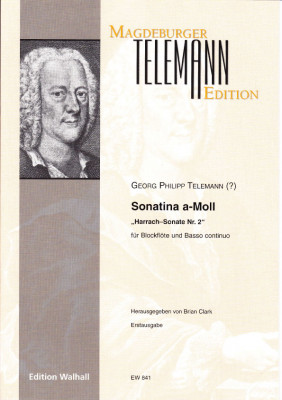 """Telemann, Georg Philipp (1681–1767): Sonatina a-Moll """"Harrach-Sonate Nr. 2"""""""